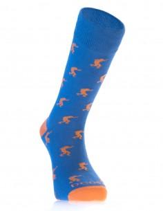 Calcetines Moda Costalero Azul y Naranja