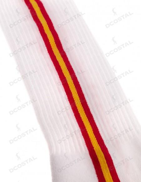 Calcetín Blanco Bandera España Vertical