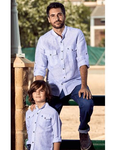 Camisa Rayas Azules La Jaca