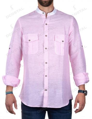 Camisa Rayas Rosas La Jaca
