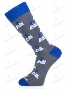 Calcetines Gris Nazarenos Azul y Blanco