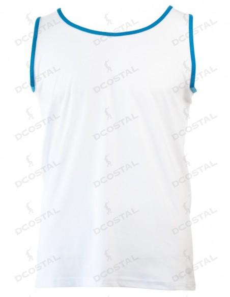 Tirantes Costalero Blanca Filo Azul Punto Liso