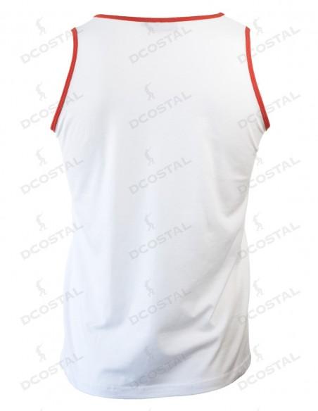 Tirantes Costalero Blanca Filo Rojo Punto Liso