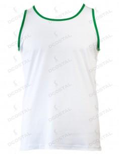 Tirantes Costalero Blanca Filo Verde Punto Liso