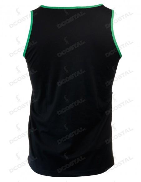Tirantes Costalero Negra Filo Verde Punto Liso