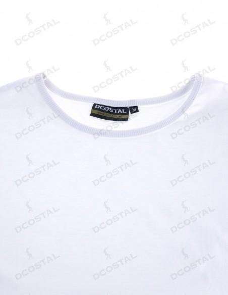 Camiseta Manga Corta Costalero Blanca Punto Liso