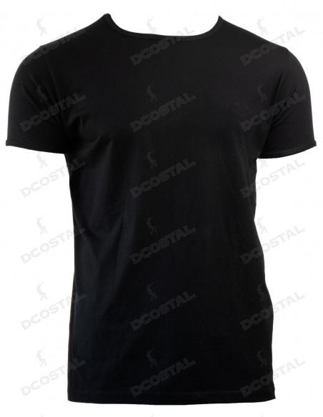 Camiseta Manga Corta Costalero Negra Punto Liso