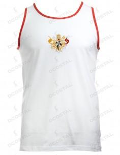 Camiseta Blanca Filo Rojo
