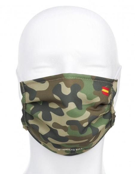 Mascarilla Higiénica Reutilizable Camuflaje Militar