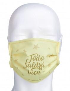 Mascarilla Higiénica Reutilizable Todo Saldrá Bien Estrella Amarilla