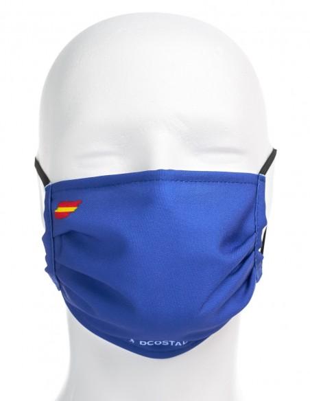 Mascarilla Higiénica Reutilizable Azul Oscuro Con Bandera España