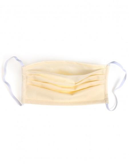 Mascarilla Higiénica Reutilizable Con Bolsillo Para Filtro PM 2.5 Beige