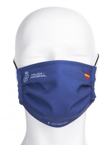 Mascarilla Higiénica Reutilizable de Policía Nacional Azul