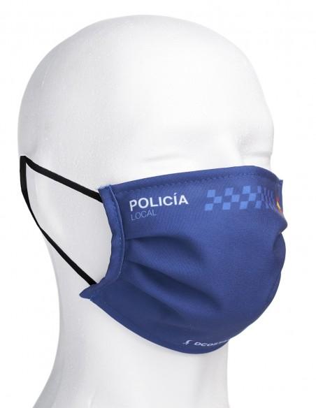 Mascarilla Higiénica Reutilizable de Policía Local Azul Oscuro
