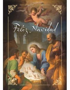 Balconera Navideña Portal Nacimiento, Feliz Navidad