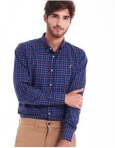 Camisa Cuadros Marino – Azul