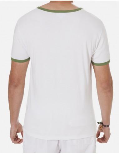 Punto Liso Blanca Filo Verde