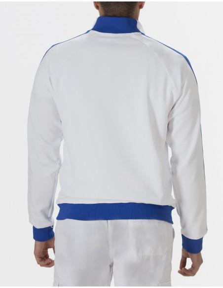 Sudadera Costalero Blanca y Azul DCOSTAL