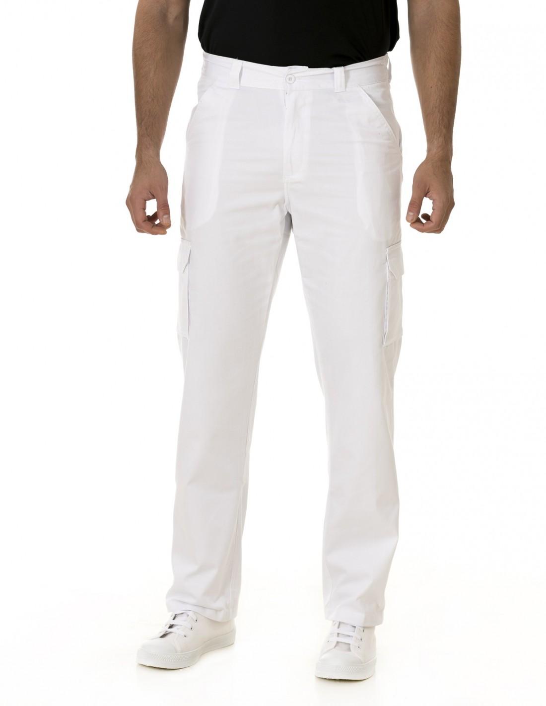 Pantalón Costalero Multibolsillos Blanco
