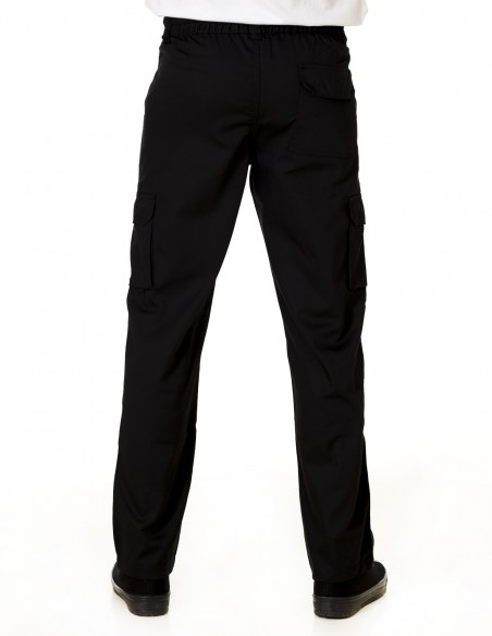 Pantalón Costalero Multibolsillos Negro