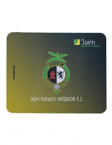 Alfombra Ratón Negra y Amarilla Jaén FS.
