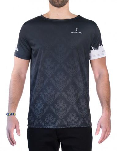 Camiseta Costalero Manga Corta Negra y Blanca Sky