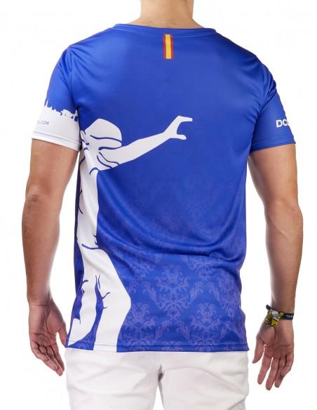 Camiseta Costalero Manga Corta Azul y Blanca Sky