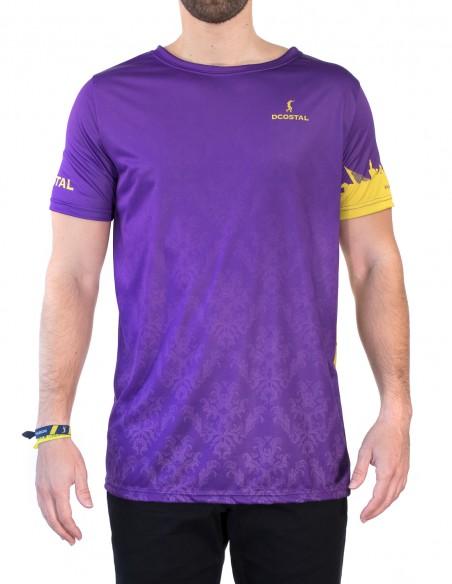 Camiseta Costalero Manga Corta Morada y Oro Sky